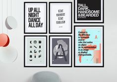 """""""Up All Night Dance All Day"""" Typography Art Print now on Juniqe.com 