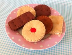Felt Pretend Play Food Biscuit Selection with Box by mummymadeitme on Etsy https://www.etsy.com/listing/154798141/felt-pretend-play-food-biscuit-selection