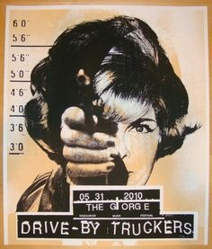 Drive-By Truckers concert poster by Joanna Wecht (2010)