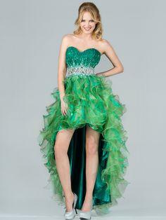 Layered High Low Prom Dress. Get yours today at www.SungBoutiqueLA.com
