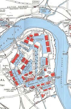 Old Maps Of London, London Map, London Places, Old London, East End London, South London, Architecture Concept Diagram, Isle Of Dogs, Merchant Navy
