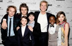 Charlie Heaton, Joe Keery, Noah Schnapp, Finn Wolfhard, Matthew Modine, Caleb McLaughlin and Natalia Dyer attend the Entertainment Weekly Celebration of SAG Award Nominees sponsored by Maybelline New York at Chateau Marmont on January 28, 2017 in Los Angeles, California.