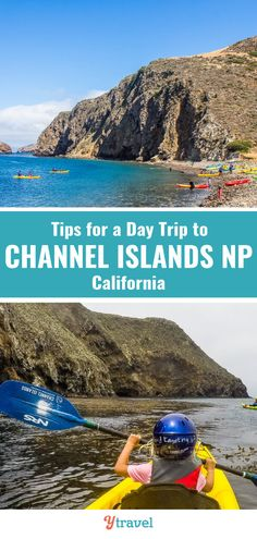 How to take a day trip to Channel Islands National Park in California. Get tips on The Channel Islands ferry ride over from Ventura Harbor, Kayaking around the cliff faces of Santa Cruz Island, Seas Cave kayaking, what to pack and take and much more. #California #NationalParks #ChannelIslands #Californiatravel #Ventura #ChanellIslandsNationalPark