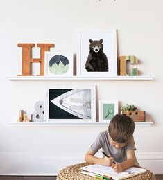 Children's bedroom gallery wall design inspiration. Refresh your child's space with unique designs from Minted's community of independent artists. Includes free shipping and returns on limited edition art.