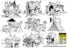 9 Environment Concepts by ~STUDIOBLINKTWICE on deviantART