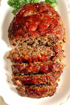 Gourmet Meat Loaf - I made this for dinner last night and it was delicious. My husband says it's the best meatloaf I've ever made. Beef Dishes, Food Dishes, Main Dishes, Brown Sugar Meatloaf, Best Meatloaf, Meatloaf In Oven, Recipe For Meatloaf, Moist Meatloaf Recipes, Bobby Flay Meatloaf