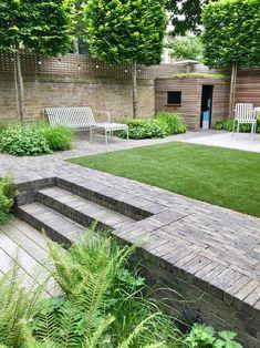 Backyard Garden Design, Garden Landscape Design, Backyard Landscaping, Back Gardens, Small Gardens, Outdoor Steps, Garden Makeover, Garden Buildings, Formal Gardens