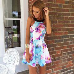 Fashion Strapless Print Dress KNW85AX