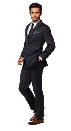 2fc3a107 Charcoal Lavender Pinstripe Suit #Menssuits 3 Piece Suits, Custom Made  Suits, Pinstripe Suit