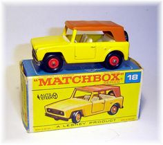 Matchbox 18e Field Car (1969) I still have it. Damaged but recognizable.