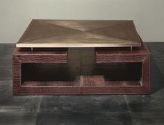 Nella Vetrina Rugiano twins 9041 upholstered Coffee Table in Brown