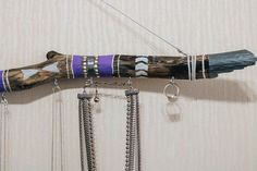 Boho bedroom decor driftwood jewelry stand boho jewelry | Etsy