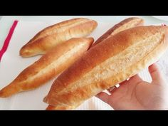 Σπιτική συνταγή ψωμιού - Τουρκική συνταγή ψωμιού - YouTube Bread Bun, Bread Rolls, Types Of Bread, Hot Dog Buns, Bread Recipes, Pizza, Healthy Recipes, Homemade, Baking