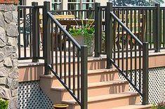 Deck Railing - aluminum dark