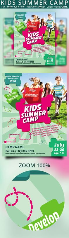 Summer Camp Flyer Template  Flyer Template Template And Camping