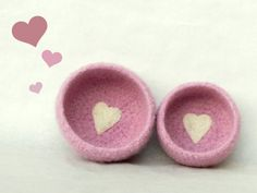 Baby shower gift  Pink Felted bowl  ballerina by theYarnKitchen, $32.90