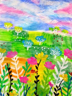 Great Instructional video. Chalk and starch. Cassie Stephens: In the Art Room: Claire West-Inspired Landscape Lesson