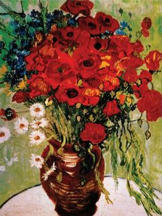 Vincent van Gogh Daisies and Poppies Reproduction