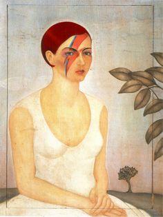 Frisa Stardust en hommage à Bowie #hommageàDavidBowie #FridaKahlo #ZiggyStardust