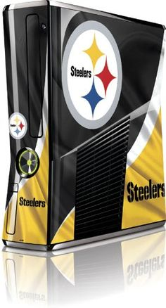 Nfl - Pittsburgh Steelers - Pittsburgh Steelers - Microsoft Xbox 360 Slim (2010) - Skinit Skin, 2015 Amazon Top Rated Faceplates, Protectors & Skins #VideoGames