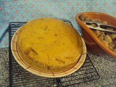 bolo de maçã, canela e nozes
