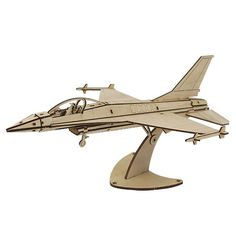 Wooden Model Aircraft Kits Junior Series- Scale models F-16