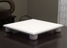 Square Cake Stand White 18 Inch Wedding By KennethDante On Etsy, $89.00