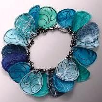 Paper and Silver Wire Jewelry by Carol Windsor