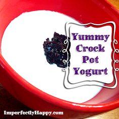 How to make Yummy Crock Pot Yogurt by ImperfectlyHappy.com