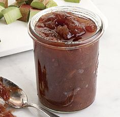 Rhubarb Jam with Lime and Ginger recipe - make your own Christmas gifts