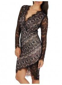 AX Paris | Lace Bodycon Dress Black and White