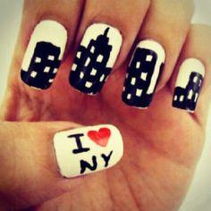 I <3 NY nails. #nailart