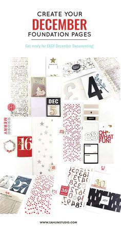 Get Ready for December: Creating Your December Daily Foundation Pages | Theresa Moxley - Larkindesigns Sahlin Studio