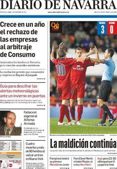 Los Titulares y Portadas de Noticias Destacadas Españolas del 2 de Diciembre de 2013 del Diario De Navarra ¿Que le pareció esta Portada de este Diario Español?