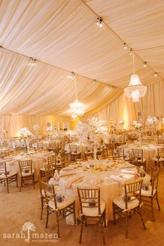 Crocker Art Museum Wedding Photos - tented reception space in courtyard - Sarah Maren Photographers