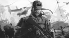Metal Gear Solid 5 The Phantom Pain bw full HD image