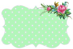 cute vintage web label ♥ green
