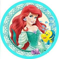 Little Mermaid Edible Image Cake & Cupcake Toppers/ Birthday Edible Disney Princess Pictures, Disney Princess Art, Disney Art, Little Mermaid Parties, Ariel The Little Mermaid, Princesa Ariel Disney, Princesse Party, Ariel Cake, Olive Oil Cake