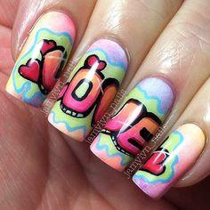 VALENTINE by jamylyn_nails #nail #nails #nailart