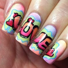 VALENTINE by jamylyn_nails #nail #nails #nailart <3<3<3POP ART<3<3<3