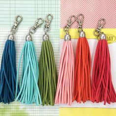 Make your own suede tassel. I am in the midst of sorting out my craft supplies when I came across some remaining materials that WahSoSimple used in our gig with Laneige Singapore in July 2