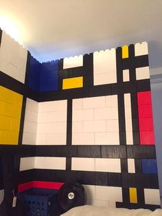 Modrian Wall Colorful Roomdivider Roomparion Divider Roomseparation Fabric Room