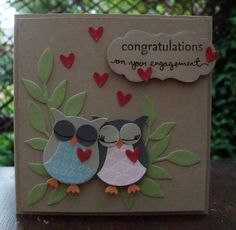Love Birds (like the eyes being closed & the owls snuggled close)