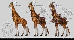 Reins of the Barrens Giraffe by Thomas Karlsson on ArtStation