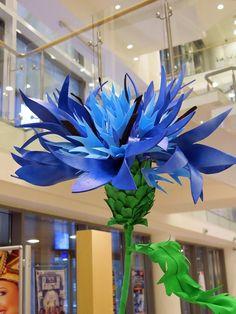 цветочное украшение декор цветы гигантские флористика гигантский ростовые оформление витрины Кемерово Москва www.flofra.ru98