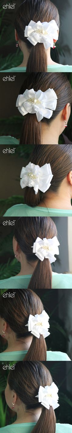 Ehlel Brand - New Arrival Plaid Hair Ropes Womens band for girl hair Accessories Ribbon Bow Headwear Tie Rope Hair Bands