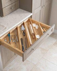 Para otimizar o espaço interno das gavetas