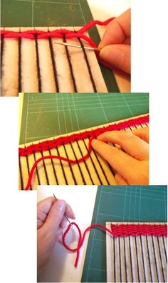 Things to make and do -  Weaving with a simple homemade loom