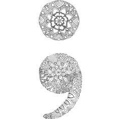 patterned semicolon 2 art print semicolon drawing semicolon art shirt designs pinterest. Black Bedroom Furniture Sets. Home Design Ideas