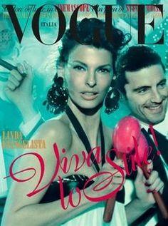 Vogue Italia May 2012 Linda Evangelista by Steven Meisel
